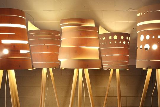 Lampada in legno naturale design
